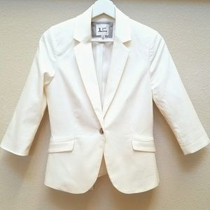 Jules & Leopold White One-Button Blazer